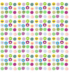 Cute wrapping paper for gifts vector