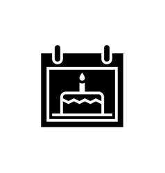 Date birth icon isolated vector