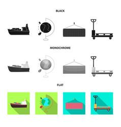 Design of goods and cargo symbol vector