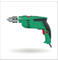 Electric drill realistic vector