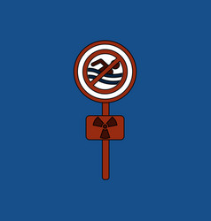 flat icon design collection no swimming sign vector image