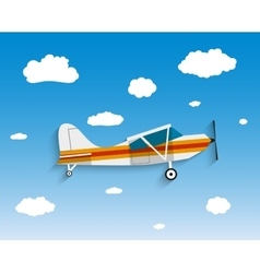 Flight of the plane in sky vector image