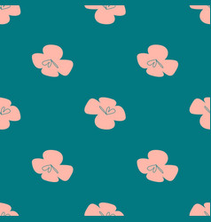 Flowers patten seamless design with simple vector