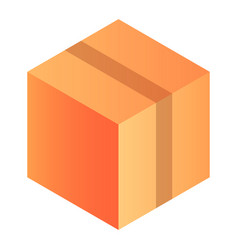 fragile delivery box icon isometric style vector image