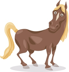 funny horse cartoon vector image