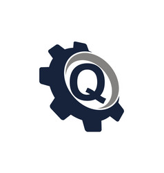 Gear icon letter q vector
