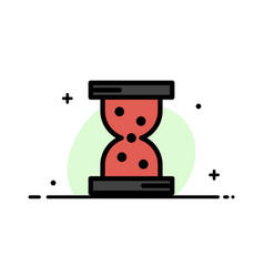 glass hour watch business flat line filled icon vector image