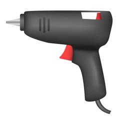 Glue gun icon realistic style vector