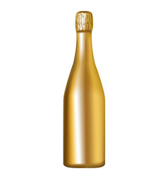 golden champagne bottle vector image