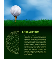 Golf design template vector