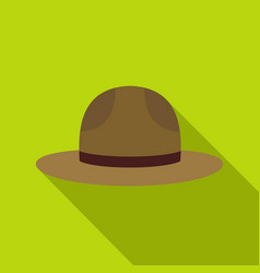 Hat officer of canadian equestrian cavalry icon vector