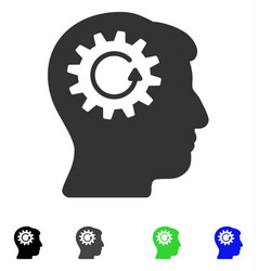 Head gear rotation flat icon vector