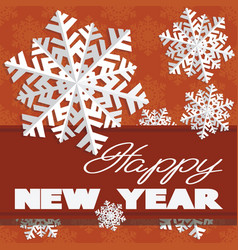 Holiday card with snowflakes and says vector