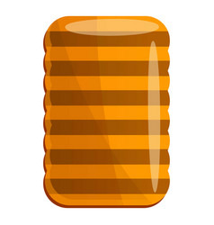homemade biscuit icon cartoon style vector image
