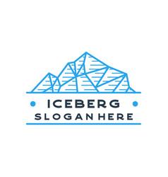iceberg logo geometric line outline line art vector image
