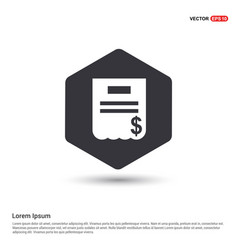 invoice icon hexa white background icon template vector image