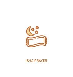 Isha prayer concept 2 colored icon simple line vector