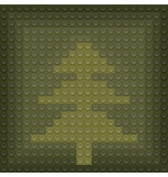 Lego christmas tree vector