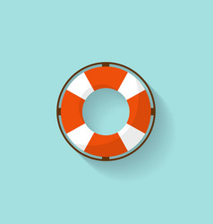 Lifebuoy in a flat style protection equipment vector
