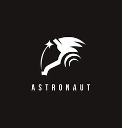 Minimalist astronaut star logo icon inspiration vector