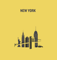 minimalist new york city vector image