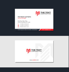 Minimalistic business card with letter m vector