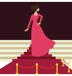 model celebrity on red carpet woman female from vector image