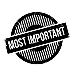 Most important rubber stamp vector