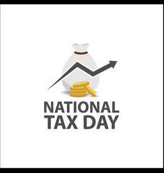 national tax day vector image