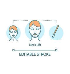 neck lift concept icon vector image