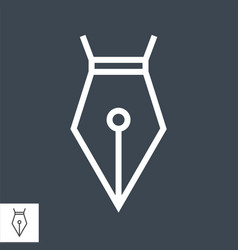 Nib thin line icon vector