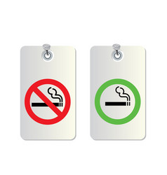 no smoking and smoking area vector image