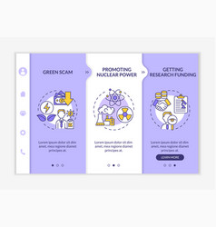 Promoting nuclear energy onboarding template vector