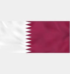 Qatar waving flag vector