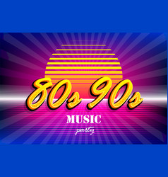 Retro background in 80s 90s pop art style vector