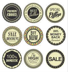 Retro vintage badges collection vector