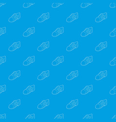 running shoe pattern seamless blue vector image