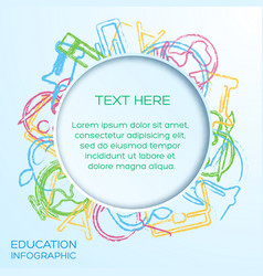 school infographic template vector image