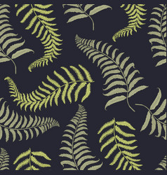 Seamles vintage tropical pattern with leaves hand vector