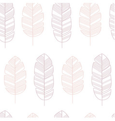 seamless pattern with pink leaves on white vector image