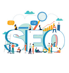 seo search engine optimization keyword research vector image