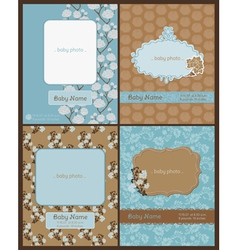 set baarrival cards vector image