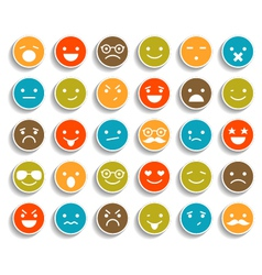 Set of color smiley icons vector