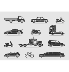 Set of transport vector image