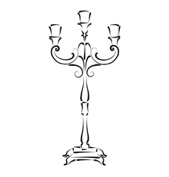 Sketched candle holder vector