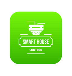 smart house icon green vector image