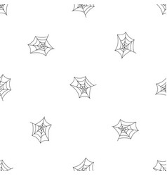 spiderweb pattern seamless vector image
