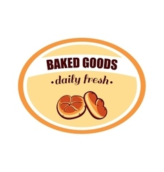 Sticker Baked Goods Daily Fresh vector