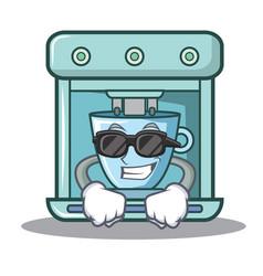 Super cool coffee maker character cartoon vector