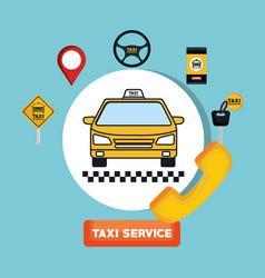 Taxi service transport public app vector